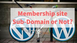 membership site on a sub-domain