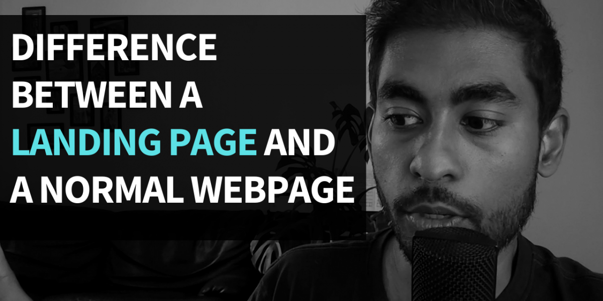 Difference Between A Landing Page And A Normal Webpage